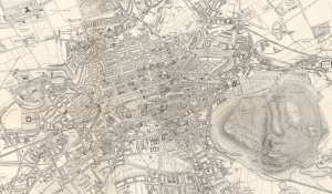 Screen capture of the Bartholomew Post Office Plan of Edinburgh and Leith, 1893-4