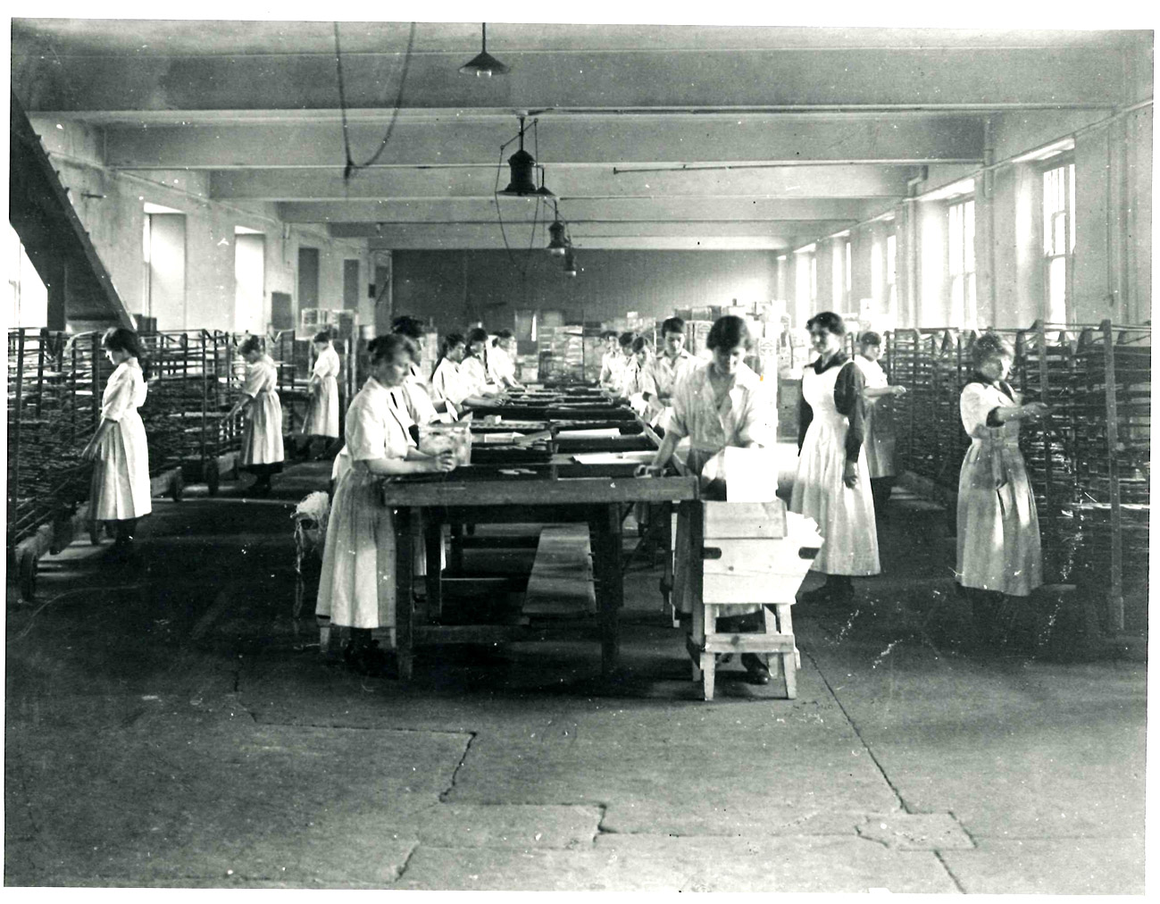 Interior of the Middlemass Biscuit Factory (image courtesy of the National Library of Scotland)