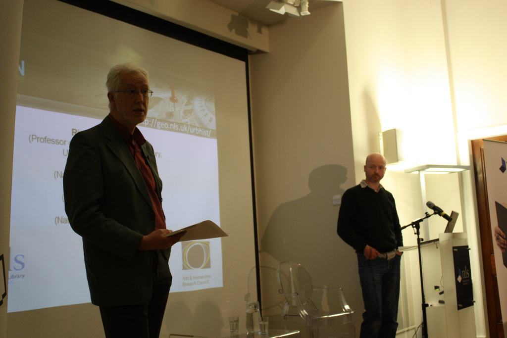 Richard Rodger and Stuart Nichol beginning their presentation on the Visualising Urban Geographies project.