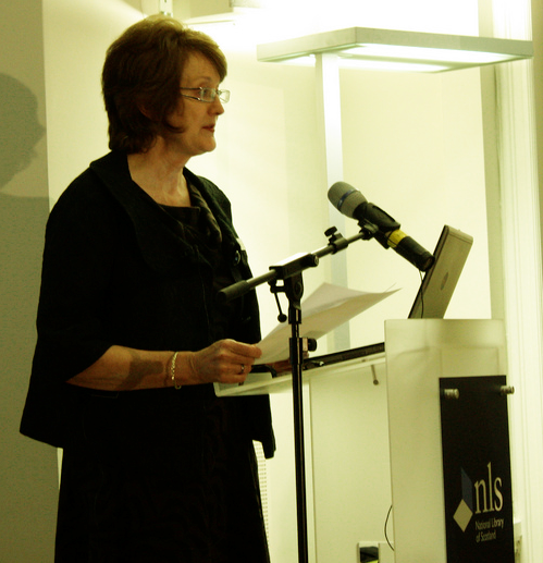 Cate Newton introduces attendees to the AddressingHistory Launch.
