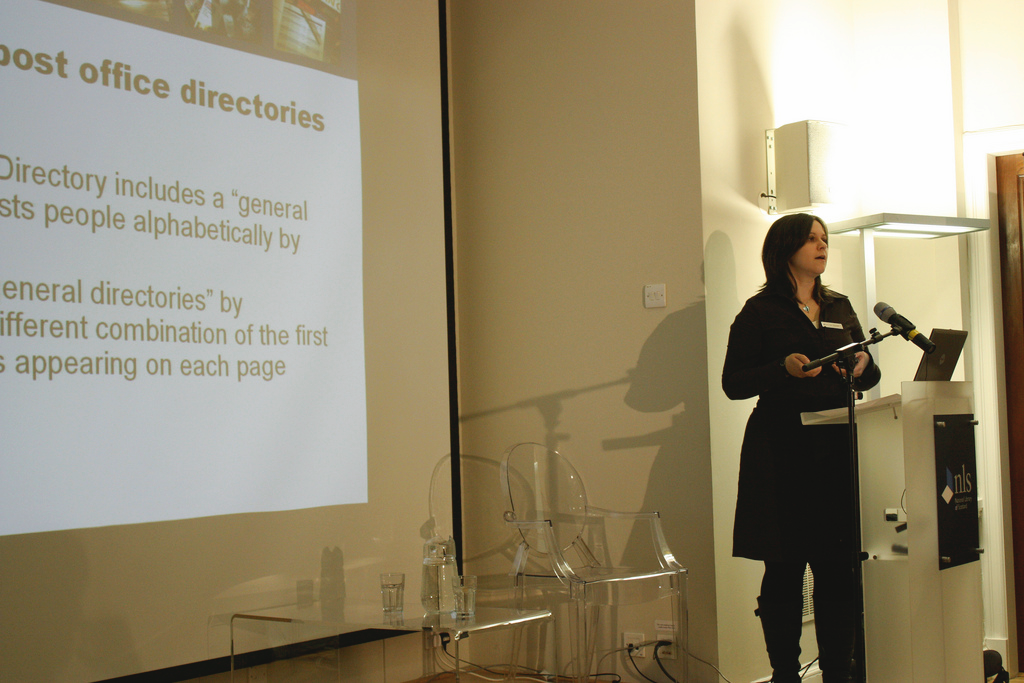 Ines Mayfarth talks about the digitisation projects at the NLS.